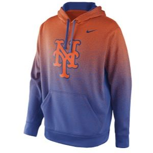 Nike MLB Sublimated KO Hoodie   Mens   Baseball   Clothing   New York Mets   Orange