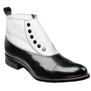 Stacy Adams Madison Cap Toe Demi Boot   Mens   Casual   Shoes   Black/White
