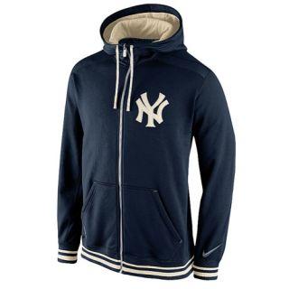 Nike MLB KO Shield F/Z Pinstripe Hoodie   Mens   Baseball   Clothing   New York Yankees   Navy