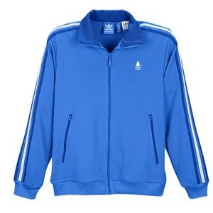 adidas Originals Split Stripe Firebird Track Jacket   Mens   Casual   Clothing   Bluebird/Coll. Royal/White