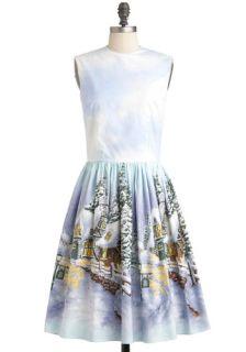 Bernie Dexter It's a Wonderland Life Dress  Mod Retro Vintage Dresses