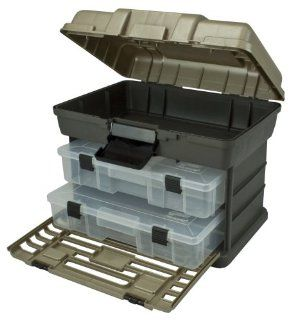 Plano Molding 1372 30 Stow N Go Tool Box with 2 Utility Organizers, Graphite Gray and SandStone   Tool Chests