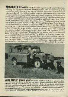 McCahill & Friends Land Rover gives you the world's best 4 wheel drive ad 1959 Entertainment Collectibles