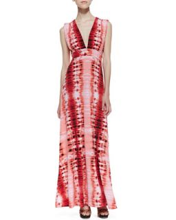 Womens Venus Tie Back Stripe Print Maxi Dress, Red   Veronica M   Red ptrn (XS)