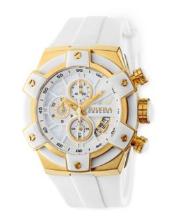 43mm Federica Watch, White and Gold   Brera   Yellow goldro