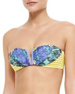 Womens Sunny Sunlits Bandeau Swim Top   Maaji   Blue (X LARGE)
