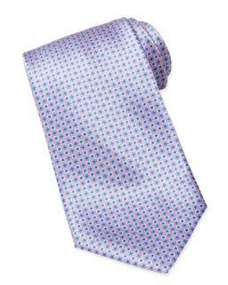 Mens Micro Medallion Silk Tie, Navy/Pink   Stefano Ricci   Navy/Pink