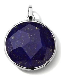 Mens Sterling Silver Round Pendant in Lapis   Ippolita   Silver