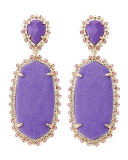 Parsons Clip On Earrings, Violet   Kendra Scott   Violet