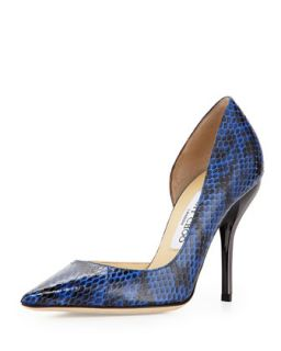 Willis Snake Half dOrsay Pump, Blue   Jimmy Choo   Blue (41.0B/11.0B)