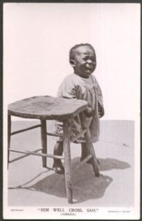 "Negro toddler crying ""Him Well Cross, Sah"" Jamaica RPPC ca 1920s: Entertainment Collectibles"
