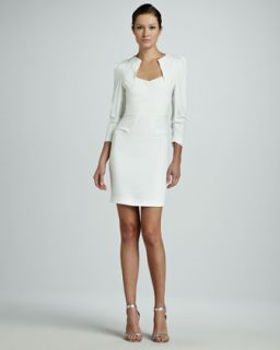 Womens Limited Edition Helena Origami Long Sleeve Dress, White   Roland Mouret