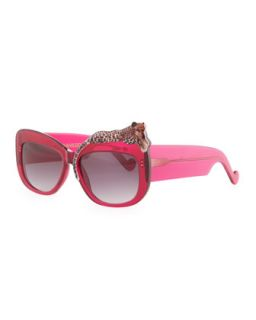 Rose et la Mer Leopard Sunglasses, Red   Anna Karin Karlsson   Red