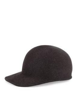 Joey Wool Cap Hat, Charcoal   Eugenia Kim   Charcoal