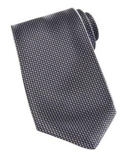 Mens Neat Print Silk Tie, Gray   Stefano Ricci   Gray