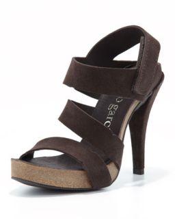Prissy High Heel Strappy Sandal, Smog   Pedro Garcia   Smog (40.0B/10.0B)