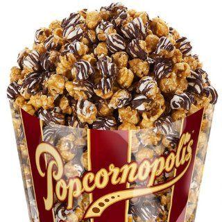 Popcornopolis Gourmet Zebra Chocolate Popcorn, 11 Ounce Bags (Pack of 3) : Popped Popcorn : Grocery & Gourmet Food