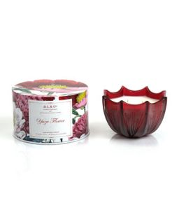 Yuzu Flower Scalloped Three Wick Candle, 15oz   D.L. & Company   (15oz ,5oz )