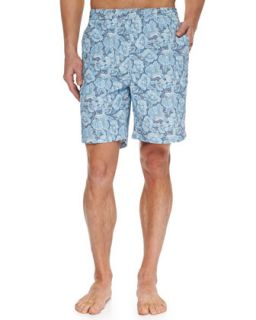 Mens Como Fancy Swim Trunks, Navy   Peter Millar   Navy (LARGE)