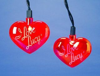 I Love Lucy Iridescent Pink Heart 10 Piece Christmas Light Set : String Lights : Patio, Lawn & Garden