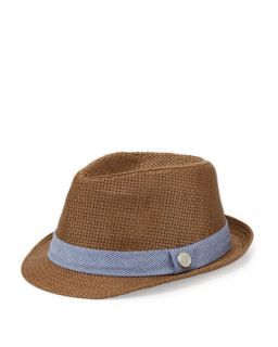 Monte Carlo: Houndstooth Fedora Hat, Blue   Andy & Evan
