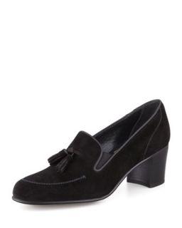 High Heel Tassel Loafer, Black   Gravati   Black (9 1/2B)
