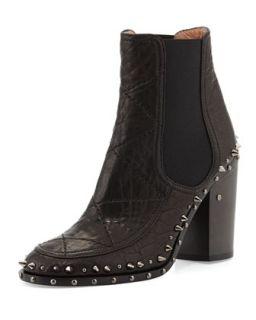 Flynn Studded Gored Ankle Boot   Laurence Dacade   Black rutenium (38.0B/8.0B)