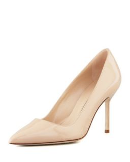 BB Patent 90mm Pump, Nude (Made to Order)   Manolo Blahnik   Nude (36.0B/6.0B)
