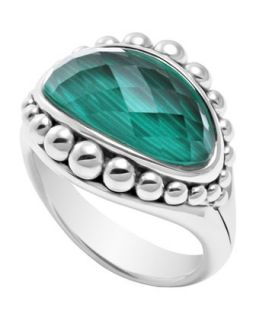 Silver Maya Malachite East West Dome Ring   Lagos   Silver (7)
