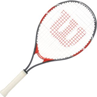 WILSON Youth Federer 25 Tennis Racquet   Size: 25 Inch, Red
