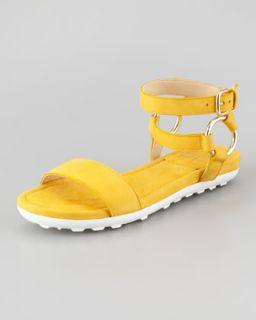Ringo Ankle Strap Flat Sandal, Sunny   Stuart Weitzman   Sunny (yellow) (40.