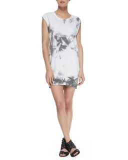 Womens Cap Sleeve Twisted Muscle Sweatshirt Dress   Pam & Gela   Tie dye