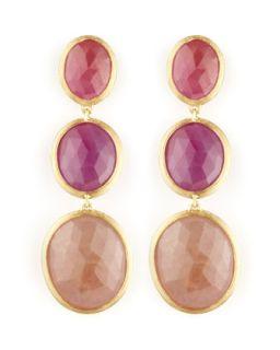 Siviglia 18k 3 Sapphire Drop Earrings   Marco Bicego   Sapphire (18k )