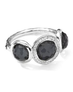 Stella 3 Doublet Ring in Hematite & Diamonds, .12 ct   Ippolita   Silver (7)