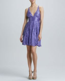 Womens Sleeveless Strappy Back Cocktail Dress   Nicole Miller   Lilac (6)