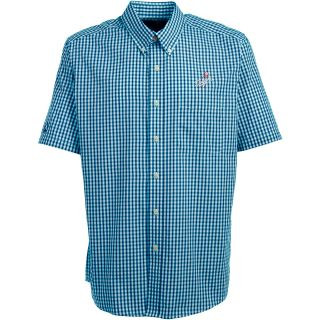 Antigua Los Angeles Dodgers Mens Scholar Button Down Short Sleeve Shirt   Size: