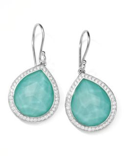 Stella Teardrop Earrings in Turquoise Doublet with Diamonds, 1L   Ippolita
