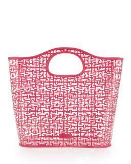 Madison Logo Maze Print Tote Bag, Pink   Elaine Turner