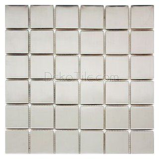 2 x 2 Stainless Steel Mosaic Tile   Construction Tiles