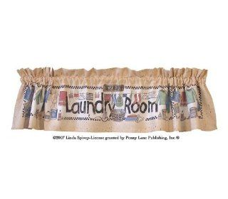 Spivey Clothesline Laundry Room Window Valance   Window Treatment Valances