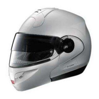 NOLAN N102 FLAT SILVER LG N COM MOTORCYCLE Full Face Helmet: Automotive