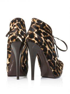 Leopard ponyhair high heel boots  Lanvin