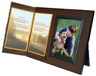 Promises Kept Poem Memorial Keepsake Picture Frame and Pet Loss Sympathy Gift, Rich Dark Brown with Foil Accent  Picture Frame Sets