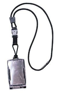 EK Ekcessories Black One Hander Card Holder with Detachable Lanyard: Automotive
