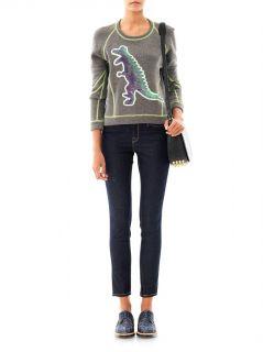 Dino contrast seam sweatshirt  Emma Cook