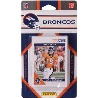 2011 Score Denver Broncos Factory Sealed 12 Card Team Set. Players Include Tim Tebow, Kyle Orton, Knowshon Moreno, Jabar Gaffney, Elvis Dumervil, Eddie Royal, D J Williams, Champ Bailey, Brandon Lloyd, Rahim Moore, Quinton Carter and Von Miller. at 's