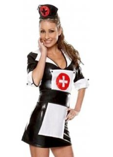 Wet Look Nurse Costume Adult Sized Costumes Clothing