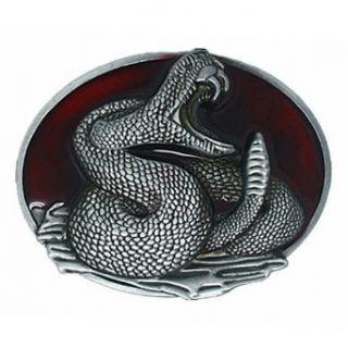Little Hand Rattlesnake Viper Murderous Python Mens Belt Buckles at  Men�s Clothing store Apparel Belts