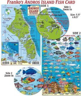 Andros Island Bahamas Dive Map & Reef Creatures Guide   Laminated Fish Card Franko Maps Ltd. 9781601903419 Books