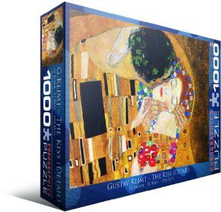 The Kiss (Detail) by Gustav Klimt 1000 Piece Puzzle: Toys & Games